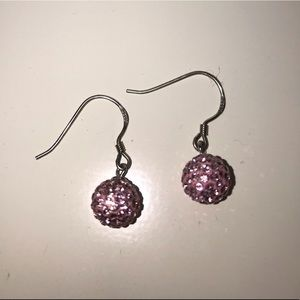 Jewelry - Beautiful pink ball jewel encrusted earrings